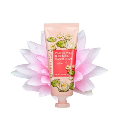 Farmstay Pink Flower Blooming Hand Cream - Water Lily