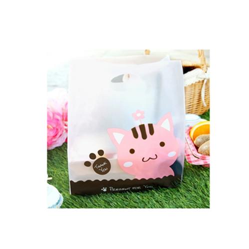 Plastic Bag  x 100ea (Pink Cat)
