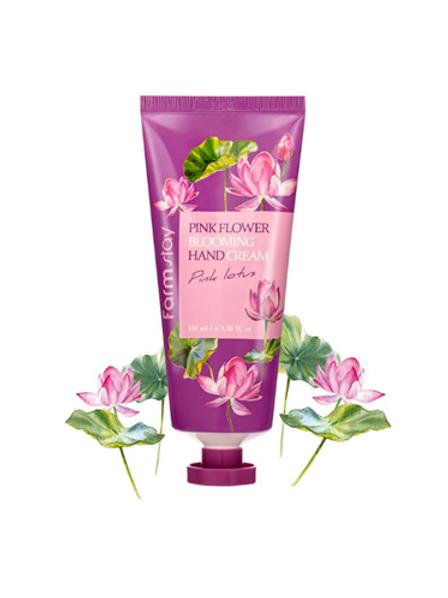 Farmstay Pink Flower Blooming Hand Cream - Pink Lotus