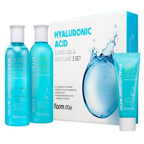 Farmstay Hyaluronic Acid Super Aqua Skin Care - 3 SET