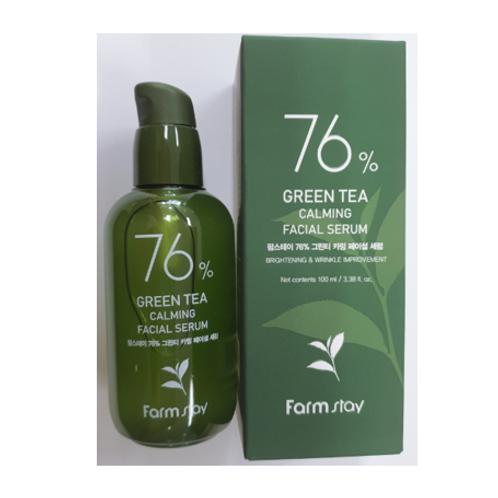 Farmstay 76% Green Tea Calming Facial Serum 100ml