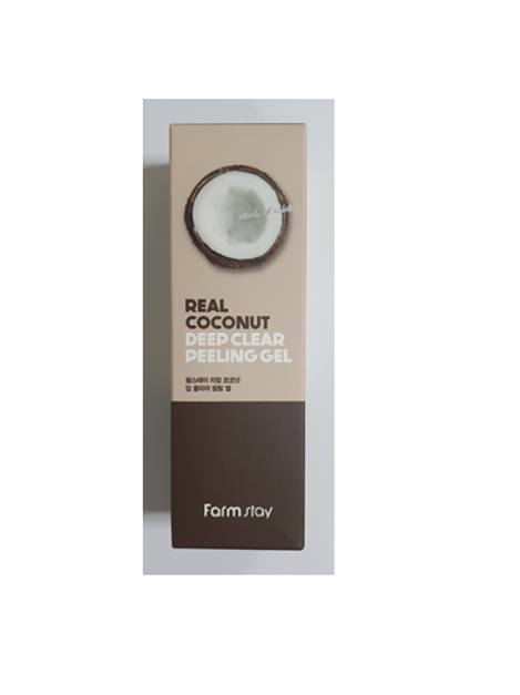 Farmstay Real Deep Clear Peeling Gel 100ml - Coconut