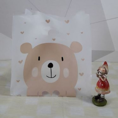 A_Plastic Bag x 100ea (Heart Bear)