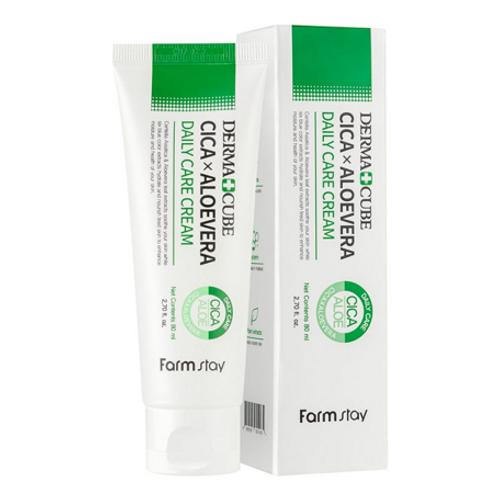 Farmstay  Derma Cube  Cica & Aloevera Daily Care Cream 80ml