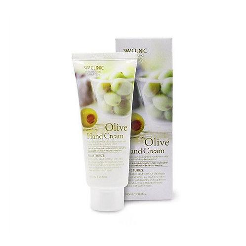 3W Clinic Moisturizing Hand Cream - Olive