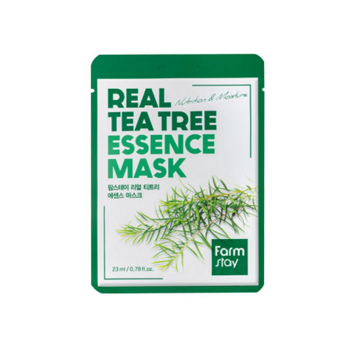 Farmstay Real Essence Mask (10ea) - Tea Tree