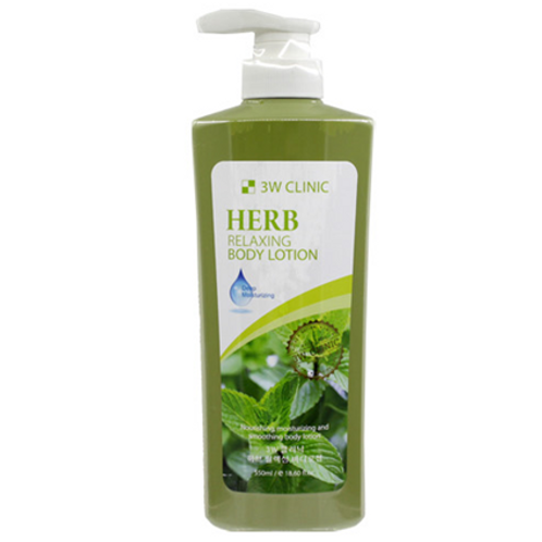 3W Clinic  Relaxing Body Lotion - HERB 550ml