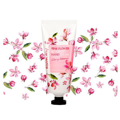 Farmstay Pink Flower Blooming Hand Cream - Cherry Blossom