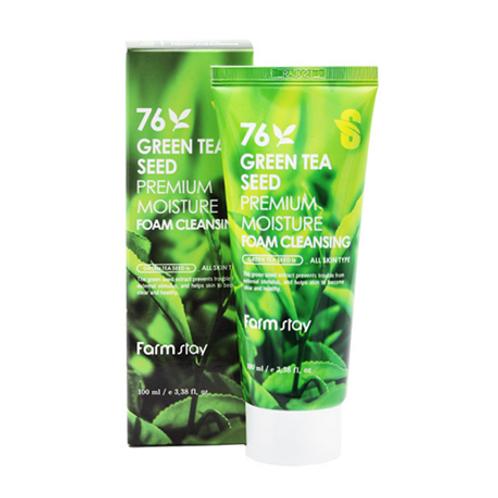 Farmstay 76 GREEN TEA SEED Premium Moisture Foam Cleansing 100ml