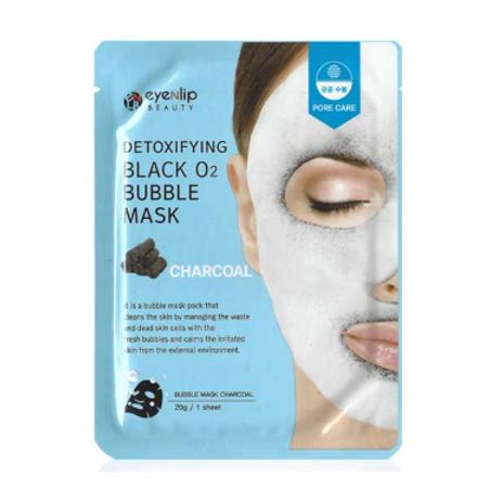 EYENLIP Detoxifying Black O2 Bubble Mask (1ea) - Charcoal