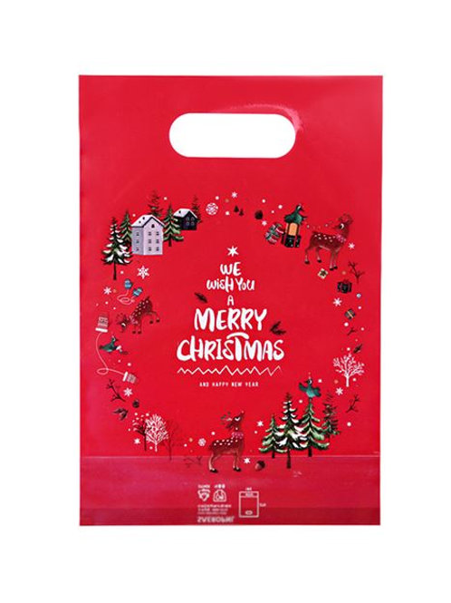 A_Plastic Bag  x 30ea (Christmas) - Red