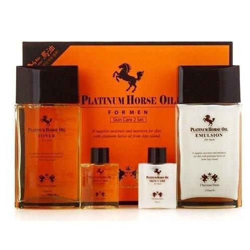 CHRISTIAN DEAN Horse Oil Skin Care 2 set  (Emulsion + Toner)