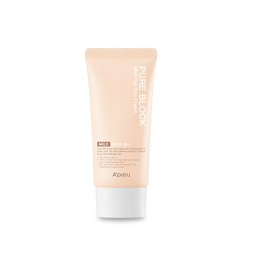 A'pieu Pure Block Sun Cream  SPF32+, PA++ 50ml - Mild Plus