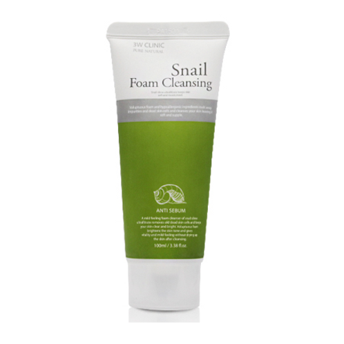 3W Clinic Cleansing Foam -Snail