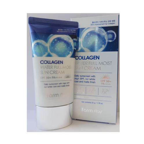 Farmstay Collagen Water Full Moist Sun Cream(SPF50+/PA++++) 50g