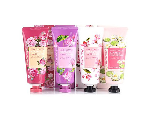 Farmstay Pink Flower Blooming Hand Cream - Pink Rose 100ml