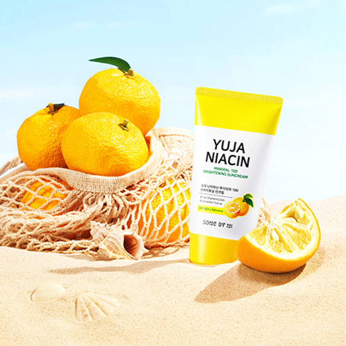 SOME BY MI Yuja Niacin Mineral 100 Brightening Suncream SPF50+ PA++++ 50ml