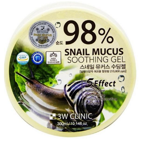 3W Clinic  SNAIL MUCUS  SOOTHING GEL - 300ml