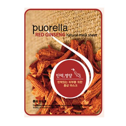 Puorella Mask Sheet - RED GINSENG(10ea)
