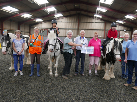 Presentation to Elizabeth Curtis Riding for the Disabled.