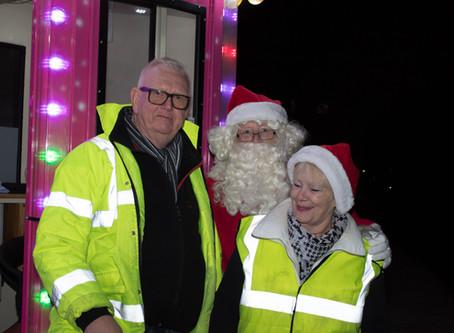 Santa at Kempston light switch on