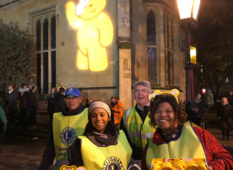 Collecting for children in need rickshaw challenge this evening.
