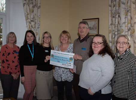 Presented Cheque to St Johns Hospice