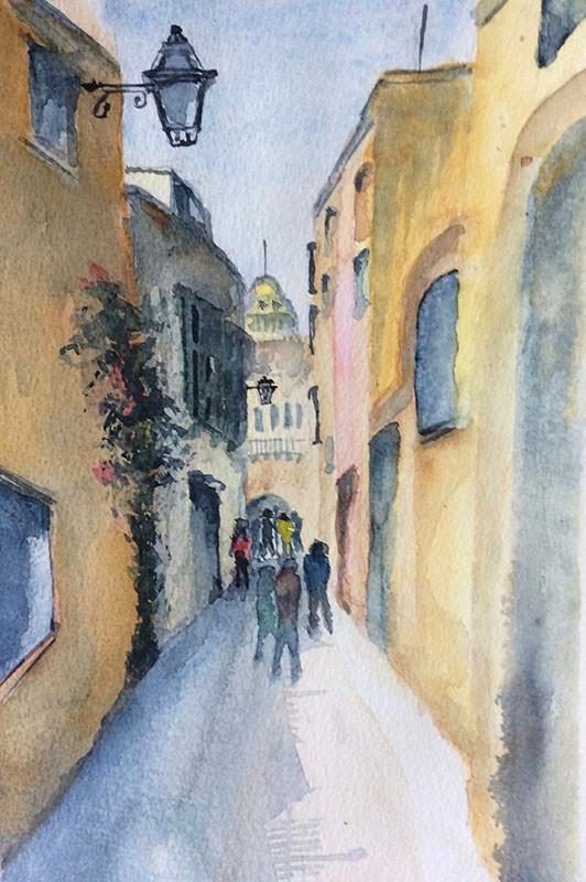 Street in M'dina, Matla