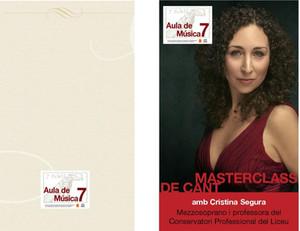 Masterclass de cant amb Cristina Segura, mezzosoprano.