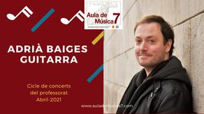 Adrià Baiges interpreta Capricho árabe, de F. Tárrega