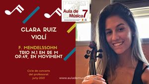 Concerts del Professorat: Clara Ruiz, violí
