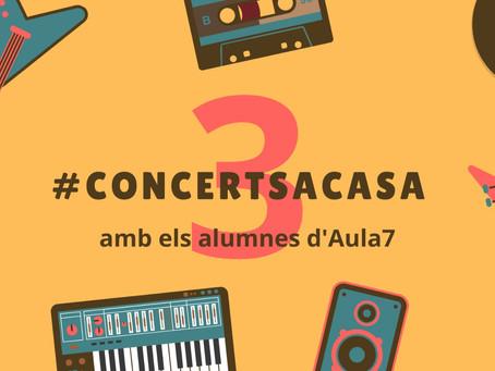 3rs #concerts a casa. Audicions virtuals. Divendres 1 de maig.
