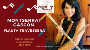 Montserrat Gascón al Cicle de Concerts del Professorat