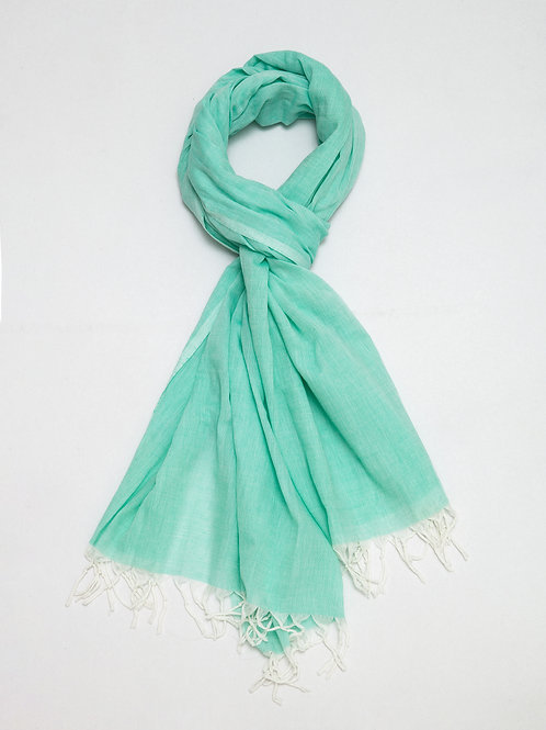 Mint Cotton Shawl