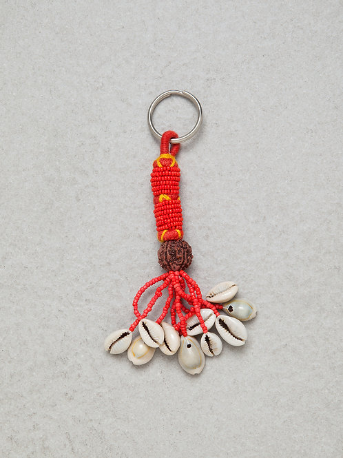 Cowrie Shell Tassel Key Chain