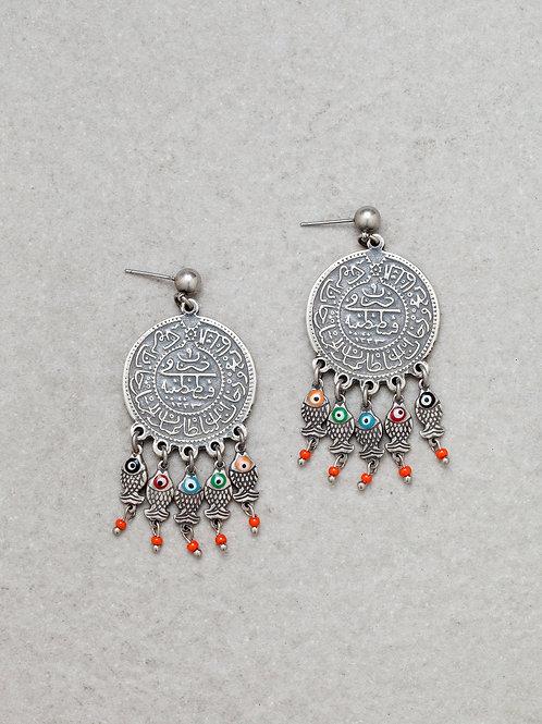 Arab Coin Earrings