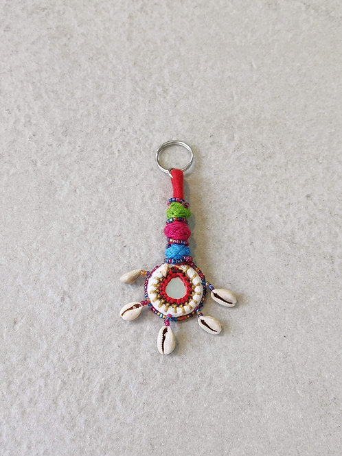 Cowrie Shell Tassel Key Chain