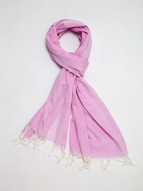 Pastel Pink Cotton Shawl