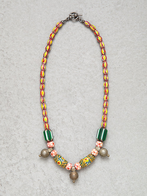 Yellow African Candy Necklace
