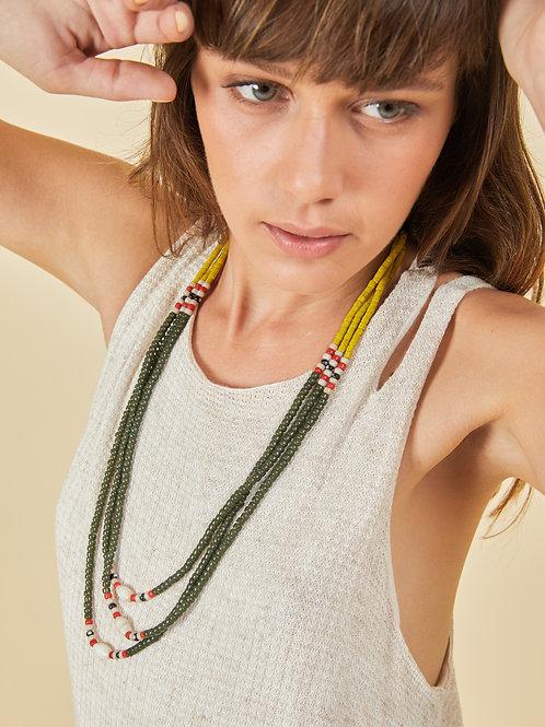 Yellow-Olive Naga Necklace