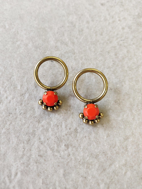 Mini Orange Calypso Earrings