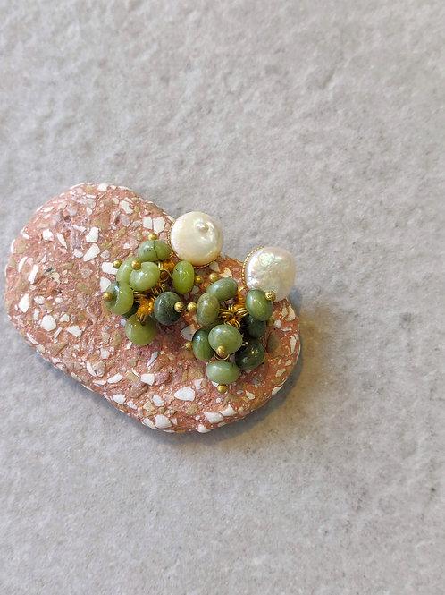 Pearl & Jade Earrings