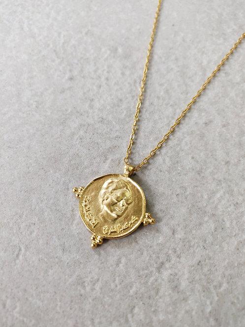 Umm Kulthum Coin Pendant