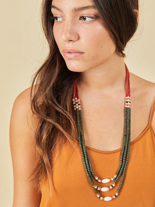 Olive Naga Necklace