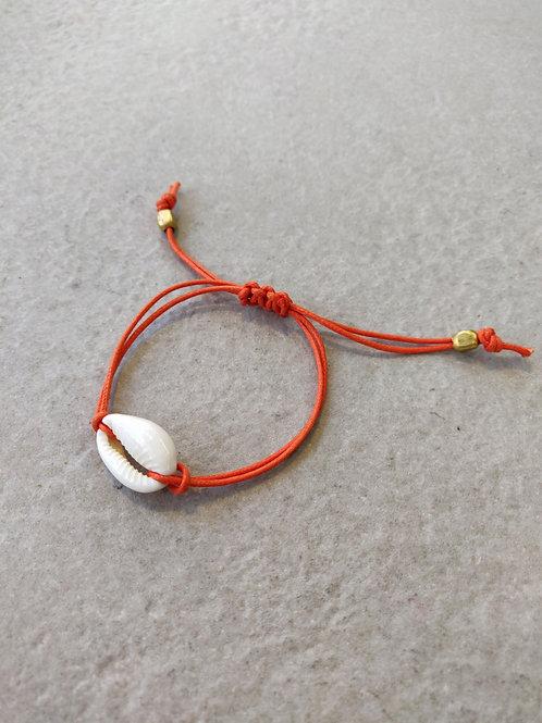 Orange Cowrie Bracelet
