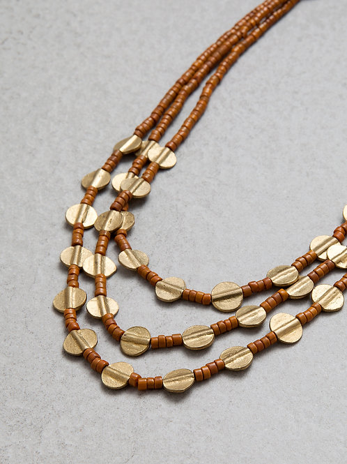 Brass Terracotta Naga Necklace