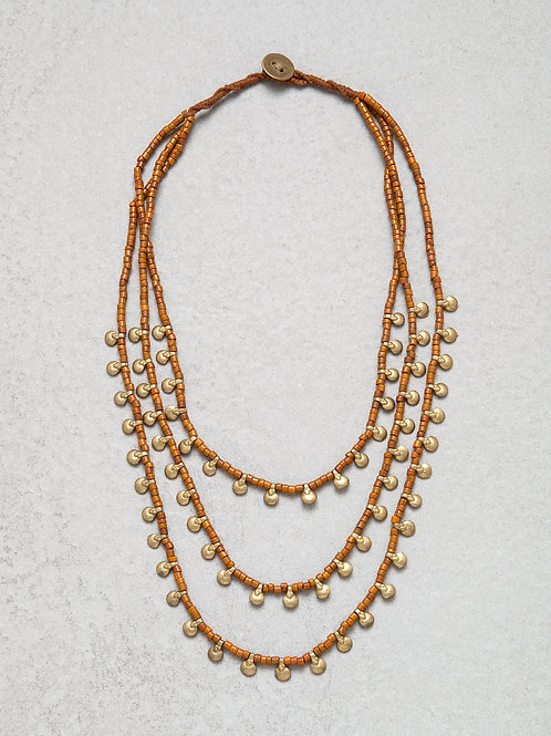 Brass Terracotta Naga Necklace