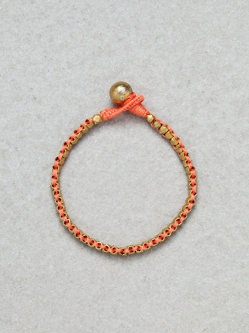 Beaded Brass Bracelet