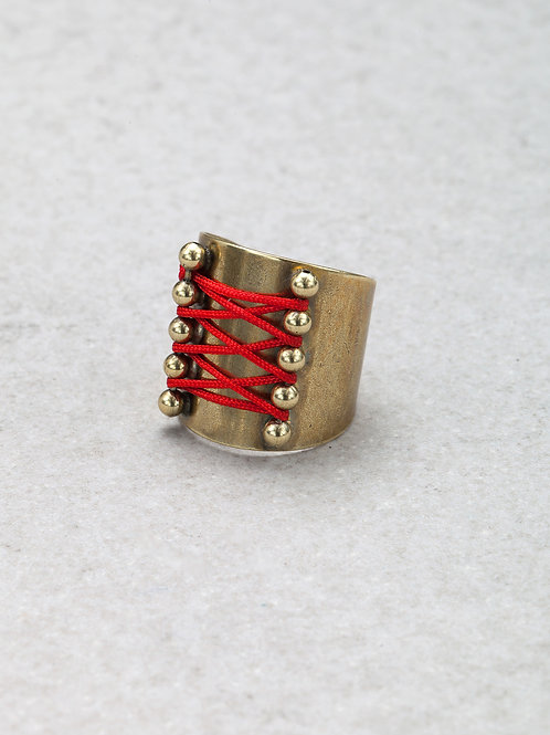 Red Corset Ring