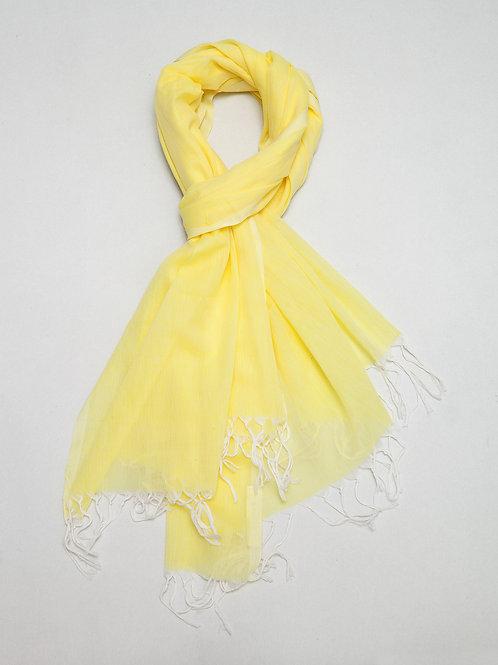 Yellow Cotton Shawl